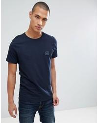 dunkelblaues T-Shirt mit einem Rundhalsausschnitt von BOSS