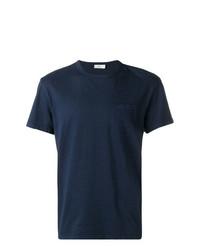 dunkelblaues T-Shirt mit einem Rundhalsausschnitt von Closed
