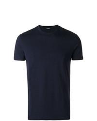 dunkelblaues T-Shirt mit einem Rundhalsausschnitt von DSQUARED2