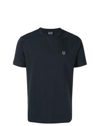dunkelblaues T-Shirt mit einem Rundhalsausschnitt von Ea7 Emporio Armani