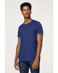 dunkelblaues T-Shirt mit einem Rundhalsausschnitt von edc by Esprit