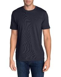 dunkelblaues T-Shirt mit einem Rundhalsausschnitt von Eddie Bauer