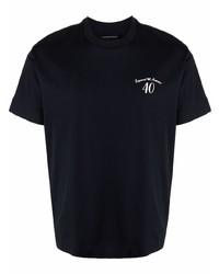 dunkelblaues T-Shirt mit einem Rundhalsausschnitt von Emporio Armani