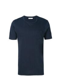 dunkelblaues T-Shirt mit einem Rundhalsausschnitt von Fashion Clinic Timeless