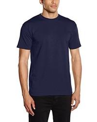 dunkelblaues T-Shirt mit einem Rundhalsausschnitt von Fruit of the Loom
