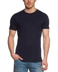 dunkelblaues T-Shirt mit einem Rundhalsausschnitt von Garage
