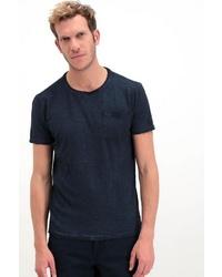 dunkelblaues T-Shirt mit einem Rundhalsausschnitt von GARCIA