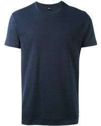 dunkelblaues T-Shirt mit einem Rundhalsausschnitt von Hugo Boss