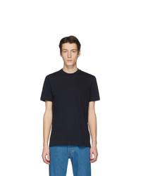 dunkelblaues T-Shirt mit einem Rundhalsausschnitt von Jil Sander