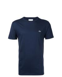 dunkelblaues T-Shirt mit einem Rundhalsausschnitt von Lacoste