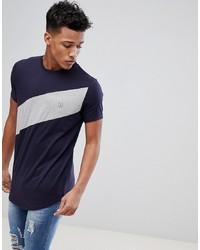 dunkelblaues T-Shirt mit einem Rundhalsausschnitt von Le Breve