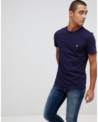 dunkelblaues T-Shirt mit einem Rundhalsausschnitt von Lyle & Scott