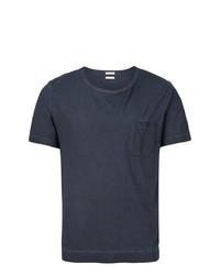 dunkelblaues T-Shirt mit einem Rundhalsausschnitt von Massimo Alba
