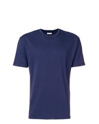 dunkelblaues T-Shirt mit einem Rundhalsausschnitt von Mauro Grifoni