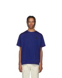 dunkelblaues T-Shirt mit einem Rundhalsausschnitt von Moncler
