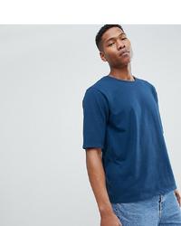 dunkelblaues T-Shirt mit einem Rundhalsausschnitt von Noak