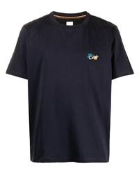 dunkelblaues T-Shirt mit einem Rundhalsausschnitt von Paul Smith