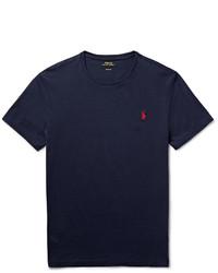 dunkelblaues T-Shirt mit einem Rundhalsausschnitt von Polo Ralph Lauren