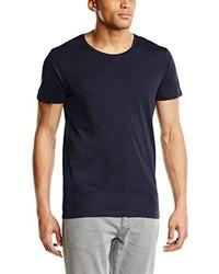 dunkelblaues T-Shirt mit einem Rundhalsausschnitt von Selected Homme