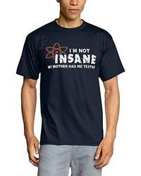 dunkelblaues T-Shirt mit einem Rundhalsausschnitt