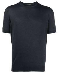 dunkelblaues T-Shirt mit einem Rundhalsausschnitt von Tagliatore