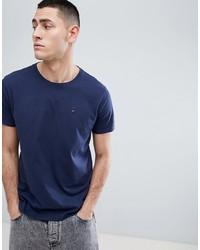dunkelblaues T-Shirt mit einem Rundhalsausschnitt von Tommy Jeans