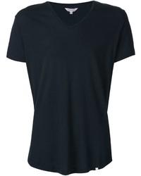dunkelblaues T-Shirt mit einem V-Ausschnitt von Orlebar Brown