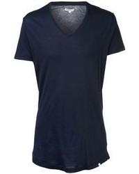 Dunkelblaues t shirt mit v ausschnitt original 380052