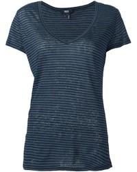 dunkelblaues T-Shirt mit einem V-Ausschnitt von Paige