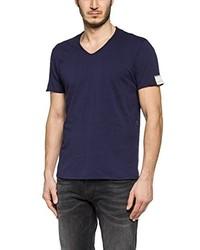 dunkelblaues T-shirt von Replay