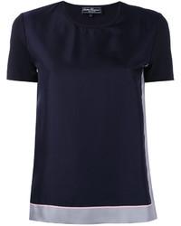 dunkelblaues T-shirt von Salvatore Ferragamo