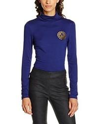 dunkelblaues T-shirt von Versace