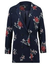 Dunkelblaues Tuxedokleid mit Blumenmuster von Missguided