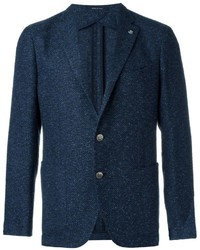 dunkelblaues Tweed Sakko von Tagliatore