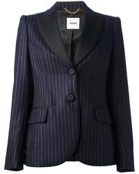 dunkelblaues vertikal gestreiftes Sakko von Moschino