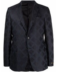 dunkelblaues vertikal gestreiftes Sakko von Versace
