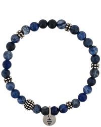 dunkelblaues Perlen Armband von Eleventy