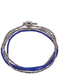 dunkelblaues verziert mit Perlen Armband von M. Cohen
