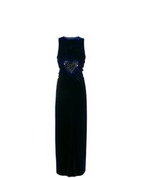 dunkelblaues verziertes Ballkleid von Fendi