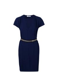 dunkelblaues Wickelkleid von Lanvin