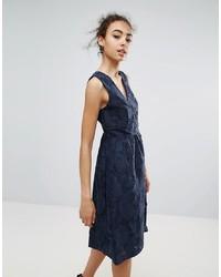dunkelblaues Wickelkleid von Warehouse
