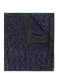 dunkelblaues Wolleinstecktuch von Brioni