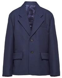 dunkelblaues Wollsakko von Prada
