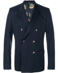 dunkelblaues Wollzweireiher-sakko von Dolce & Gabbana