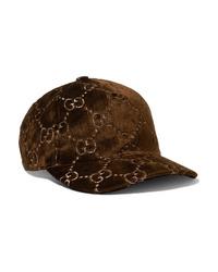 dunkelbraune Baseballkappe von Gucci