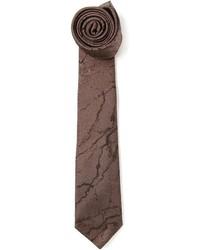 dunkelbraune bedruckte Krawatte von Lanvin