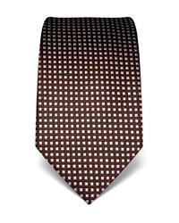 dunkelbraune bedruckte Krawatte von Vincenzo Boretti