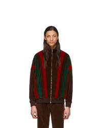 dunkelbraune bedruckte Windjacke von Gucci