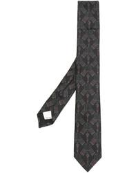 dunkelbraune bestickte Krawatte von Valentino