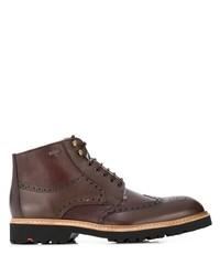 dunkelbraune Brogue Stiefel aus Leder von Lloyd